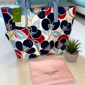 NEW Kate Spade 2 Piece Reversible Bag Purse Clutch